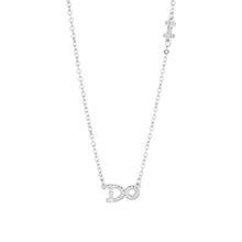 AAA级锆石项链--DO(白金)