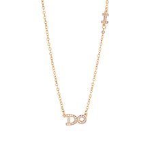 AAA级锆石项链--DO(香槟金)