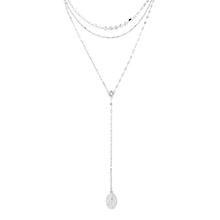 AAA级锆石项链--光芒(白金)