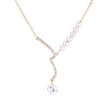 AAA级锆石项链--河流(14K金)