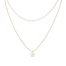 奥地利水晶项链--小灯笼(14K金+彩白)