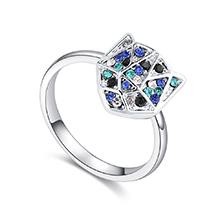进口水晶戒指--铠甲勇士(蓝光)