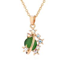 镀真金猫眼石项链--星光璀璨(绿色)