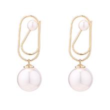 镀真金个性珍珠耳环