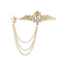 韩版时尚个性翅膀胸针(14K金)