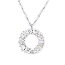 AAA级锆石项链--光环(白金)