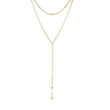 镀真金项链--星芒(14K金)