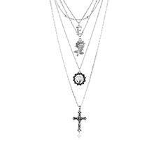 韩版时尚气质十字架项链
