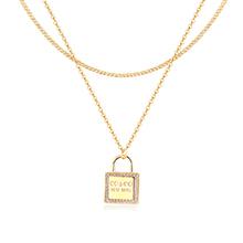 AAA级锆石项链--心锁(14K金)