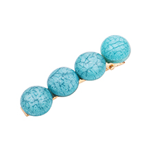 韩版简约复古半圆球发夹(蓝色)