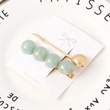 韩版简约清新半圆珠发夹套装(浅绿)