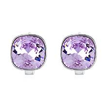 奥地利水晶耳环--方晶(紫罗兰)