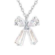 AAA级锆石项链--礼结(白色)