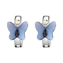 奥地利水晶耳环--比翼双飞(牛仔蓝)