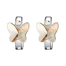 奥地利水晶耳环--比翼双飞(金色魅影)