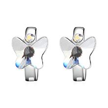 奥地利水晶耳环--比翼双飞(白色)