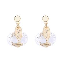 奥地利水晶耳环--爱囚(白色)