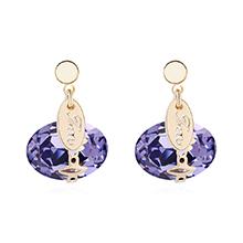奥地利水晶耳环--爱囚(藕荷紫)