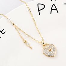 AAA级锆石项链--心房钥匙(14K金)