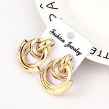 欧美时尚个性双排小气筒耳环(KC金)