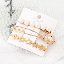 韩版小清新时尚简约风五星发夹套装