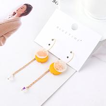 韩版时尚气质个性流苏耳环(橘黄)