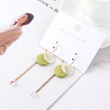韩版时尚气质个性流苏耳环(绿色)
