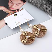 日韩个性时尚夸张小风车耳环