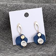 韩版简约气质冷淡风荷叶耳环(蓝色)