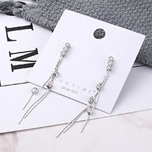 韩版时尚简约镀真金葫芦S925银针(白金)