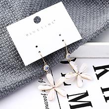 韩版时尚简约镀真金花朵耳环