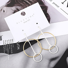 欧美时尚冷淡风大小圈S925银针