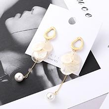 欧美冷淡风简约小圆片珍珠S925银针