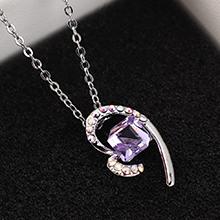 奥地利水晶项链--心晶(紫罗兰)
