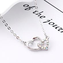 进口水晶项链--心锁之恋(彩白)