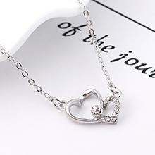 进口水晶项链--心锁之恋(白色)