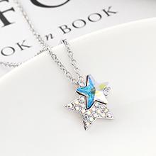 奥地利水晶项链--星星(彩白)