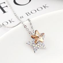 奥地利水晶项链--星星(金色魅影)