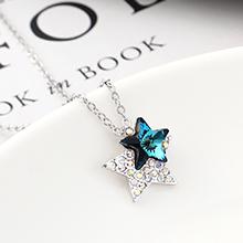 奥地利水晶项链--星星(蓝光)