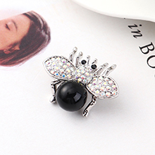 进口水晶胸针--小飞虫(黑色)