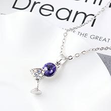 奥地利水晶项链--小酒杯(藕荷紫)