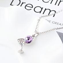 奥地利水晶项链--小酒杯(紫罗兰)