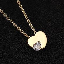 AAA级锆石项链--心动(14K金)