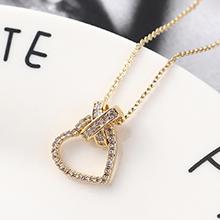AAA级锆石项链--锁心(14K金)