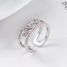 AAA级锆石戒指--心跳之声(白金)