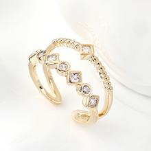 AAA级锆石戒指--魅力之戒(14K金)