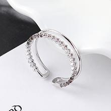 AAA级锆石戒指--光耀(白金)