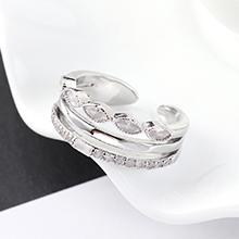 AAA级锆石戒指--璀璨星河(白金)