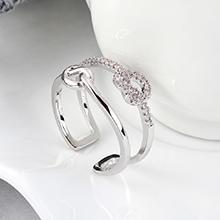 AAA级锆石戒指--浪漫之心(白金)