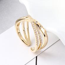 AAA级锆石戒指--缠绕(14K金)